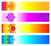 Bandeiras abstratas do projeto Fotos de Stock Royalty Free