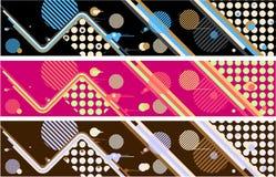 Bandeiras abstratas do vetor Imagem de Stock Royalty Free
