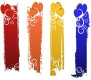 Bandeiras ajustadas Foto de Stock