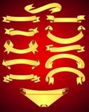 Bandeiras ajustadas ilustração royalty free