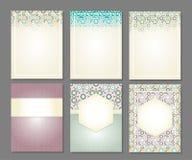 Bandeiras ajustadas de islâmico Fotos de Stock