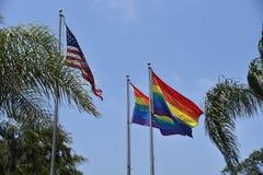 Bandeiras alegres do orgulho imagens de stock royalty free