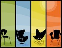 Bandeiras altas da cadeira moderna Foto de Stock Royalty Free