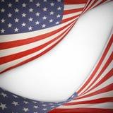 Bandeiras americanas ilustração stock