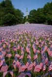 20.000 bandeiras americanas Fotografia de Stock
