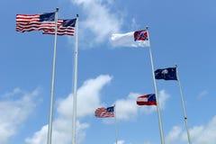 Bandeiras americanas Imagens de Stock Royalty Free