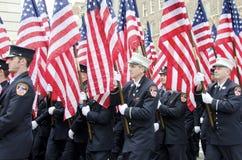 343 bandeiras americanas Fotos de Stock