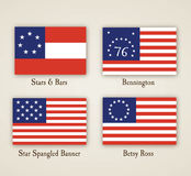 Bandeiras americanas adiantadas Imagem de Stock Royalty Free