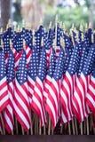 Bandeiras americanas da bandeira dos Estados Unidos Imagem de Stock