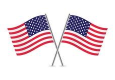 Bandeiras americanas de ondulação Ilustração do vetor ilustração royalty free