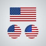 Bandeiras americanas do trio, ilustração ilustração stock