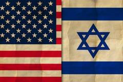Bandeiras americanas e israelitas foto de stock royalty free
