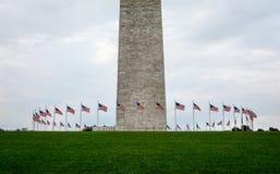 Bandeiras americanas em Washington Fotografia de Stock