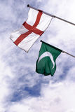 Bandeiras antigas do árabe e do cristão Imagem de Stock
