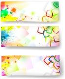 Bandeiras artísticas Fotos de Stock Royalty Free