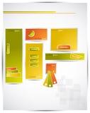 Bandeiras artísticas do Web Imagens de Stock Royalty Free