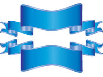 Bandeiras azuis Imagens de Stock Royalty Free