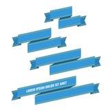 Bandeiras azuis da fita da Web ajustadas Imagem de Stock Royalty Free