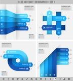 Bandeiras azuis 1 do infographics Imagens de Stock