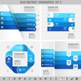 Bandeiras azuis 2 do infographics Foto de Stock Royalty Free