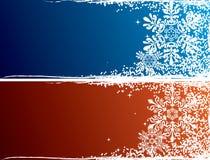Bandeiras bonitas do Natal ilustração royalty free