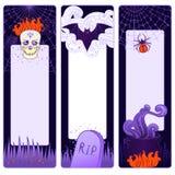 Bandeiras bonitos do vetor de Halloween Imagem de Stock Royalty Free
