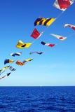 Bandeiras a bordo Fotografia de Stock