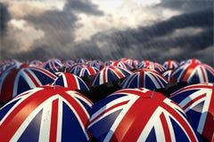 Bandeiras BRITÂNICAS do guarda-chuva imagem de stock royalty free