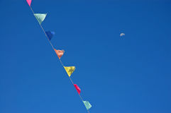 Bandeiras Buddhistic Imagens de Stock Royalty Free