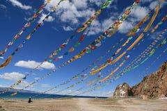 Bandeiras budistas Imagem de Stock Royalty Free
