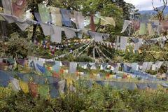 Bandeiras budistas da oração Foto de Stock