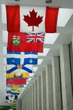 Bandeiras canadenses Fotografia de Stock Royalty Free