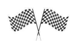 Bandeiras Checkered Foto de Stock