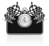 Bandeiras Checkered Imagem de Stock Royalty Free