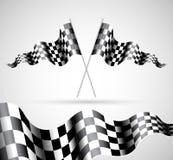 Bandeiras Checkered Imagens de Stock Royalty Free