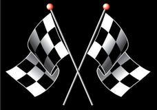 Bandeiras Checkered Imagens de Stock