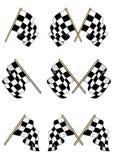 Bandeiras Checkered ajustadas Imagens de Stock Royalty Free