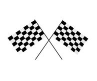 bandeiras Chequered 3D Imagem de Stock