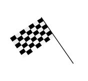 bandeiras Chequered 3D Imagens de Stock Royalty Free