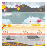 Bandeiras chuvosas do outono Imagens de Stock Royalty Free