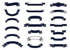 Bandeiras clássicas da fita do vintage Imagem de Stock