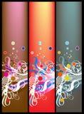 Bandeiras coloridas ilustração stock