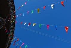 Bandeiras coloridas Fotografia de Stock Royalty Free