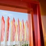 Bandeiras coloridas foto de stock