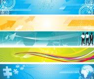 Bandeiras coloridas abstratas do Web do grunge Foto de Stock Royalty Free