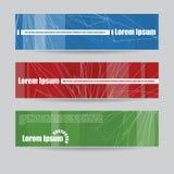 Bandeiras coloridas aleatórias Imagens de Stock