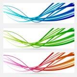 Bandeiras coloridas brilhantes modernas abstratas ilustração royalty free