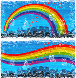Bandeiras coloridas da arquitectura da cidade Fotografia de Stock