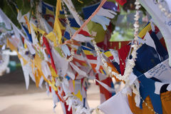 Bandeiras coloridas da oração Foto de Stock