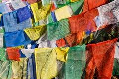 Bandeiras coloridas da oração Fotos de Stock